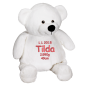 Preview: Soft toy with name - White Teddy, 41 cm
