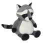 Preview: Soft toy with name - Raccoon, 16 inch