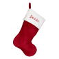 Preview: Traditional Santa stocking, red