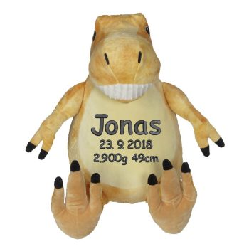 Plush toy with name - Dino Tommie, T-Rex, 16 inch