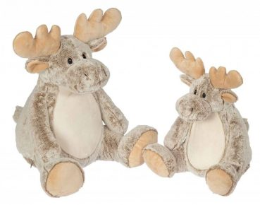 Soft toy with name - Classic Moose, 16 and 22inch