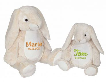 Soft toy with name - Classic Bunny Bella Bunny, 22 and 16 inch