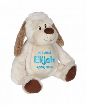 Soft toy with name - Classic Dog Dalton, 16 inch