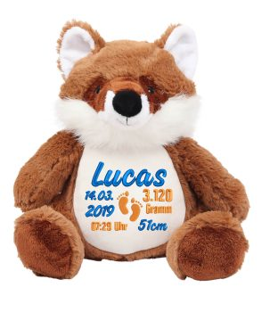 Plush toy with name - Zippie Fox Fosco, 42 cm