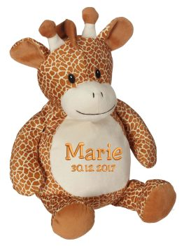 Soft toy with name - Giraffe, 16 inch