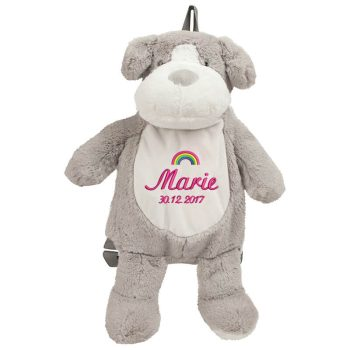 Backpack with name - Backpack guard dog, 38 cm