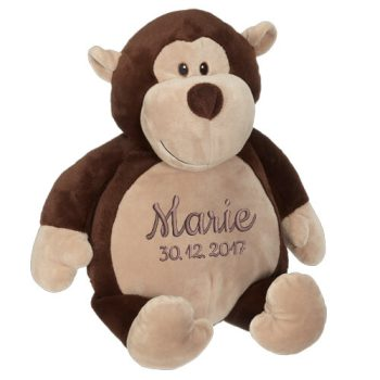 Soft toy with name - Funny Monkey Chunky, 16 inch