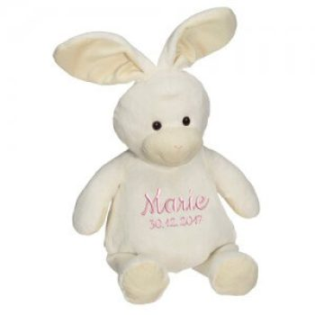 Soft toy with name - rabbit, 16 inch