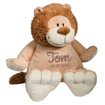 Soft toy with name - Lion, 16 inch