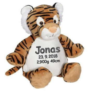 Soft toy with name - Funny Tiger Tory, 16 inch