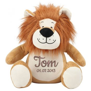 Soft toy with name - Zippie Lion, 42 cm