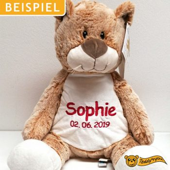 Soft toy with name - Classic cat, 16 inch - Example