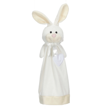 Cuddle cloth with name - Blankey rabbit, 20 inch