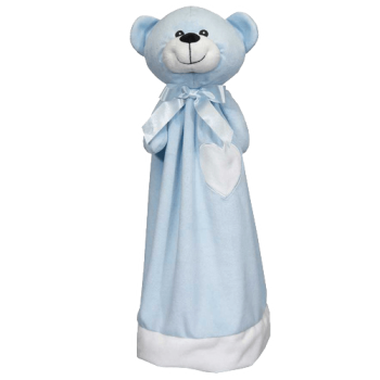 Cuddle cloth with name - Blankey teddy blue, 20 inch