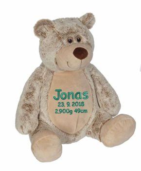 "Plush toy with name - Classic Teddy ""Benjamin"", 40 cm"