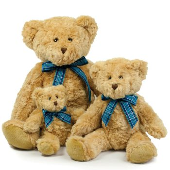 Teddy with a bow | light brown | 20 cm, 30 cm and 40 cm