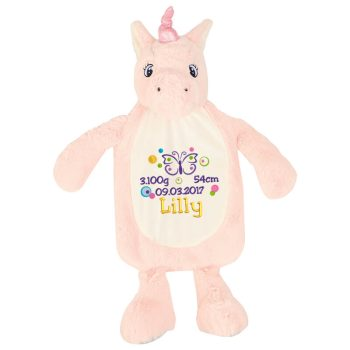 Hot water bottle cover with name | Unicorn | pink | One size fits all