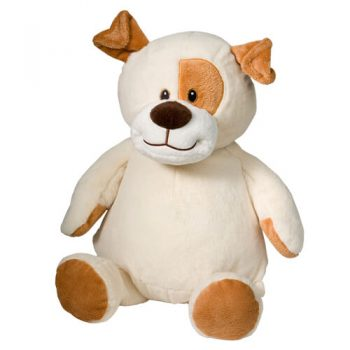 Soft toy with name - Dog, 16 inch