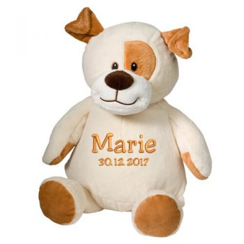 Soft toy with name - Dog (Puppy), 16 inch