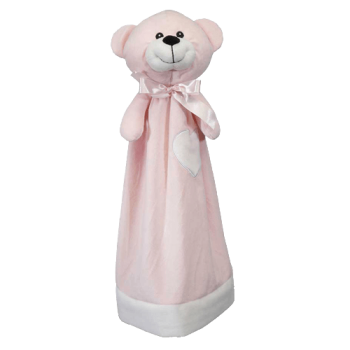 Cuddle cloth with name - Blankey teddy pink, 20 inch