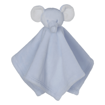 Cuddle cloth with name - Mini Blankey elephant blue, 16 inch
