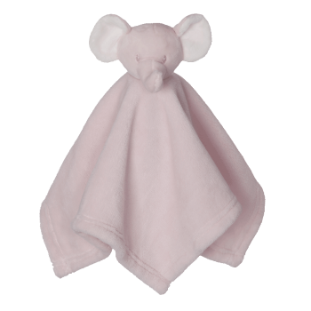 Cuddle cloth with name - Mini Blankey elephant pink, 16 inch
