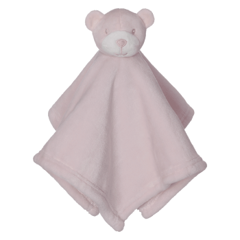Cuddle cloth with name - Mini Blankey Bear pink, 16 inch