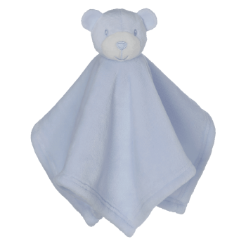 Cuddle cloth with name - Mini Blankey Bear blue, 16 inch