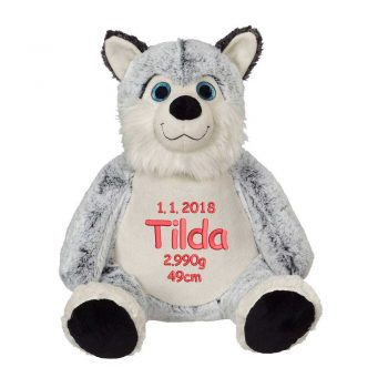 Soft toys with name - Polar dog, 41 cm