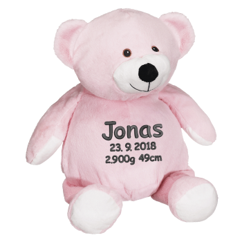 Soft toy with name - Rosa Teddy, 16 inch