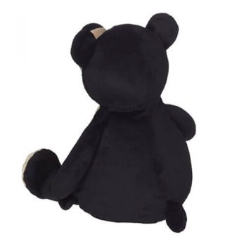 Soft toy with name - Teddy black bear, 16 inch