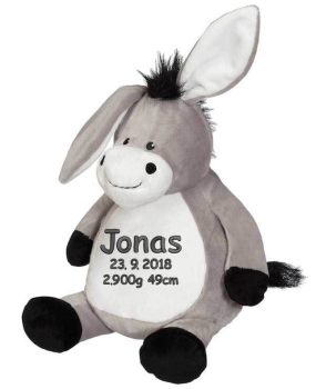 Soft toy with name - Donkey, 16 inch