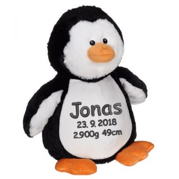 Soft toy with name - Pinguin, 16 inch