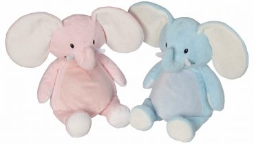 Soft toy with name - Pink Elephant, 16 inch