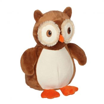 Soft toy with name - owl, 16 inch