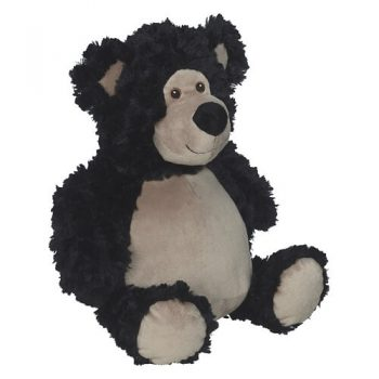Plush toy with name - Teddy Bobby Bear, black, 16 inch