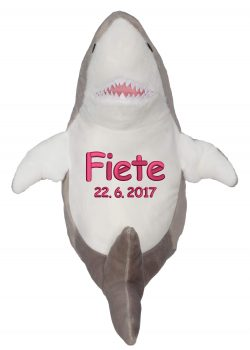 Soft toy with name - Shark, 16 inch