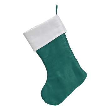 Traditional Christmas Stocking, aquamarine