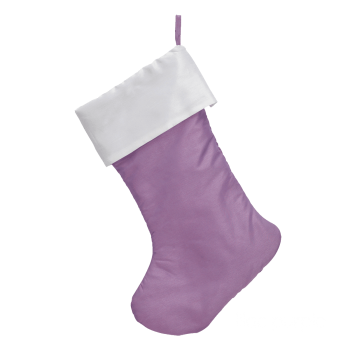 Traditional Christmas Stocking, lilac purple