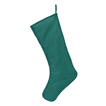 Chic Christmas Stocking, aquamarine