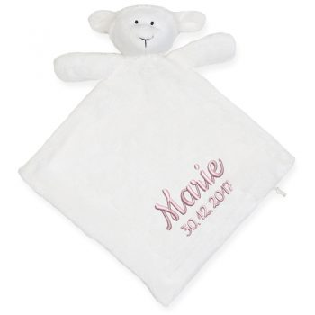 Blanket with name - Lamb Snuggy with double fabric blanket