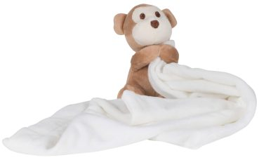 Blanket with name - monkey with blanket