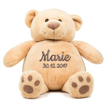 Soft toy with name - Teddy Zippie bear, 38 cm