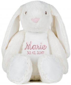 Plush toy with name - Lop-eared Rabbit Zippie, 45 cm