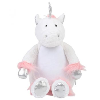 Plush toy with name - Unicorn Zippie, 40 cm