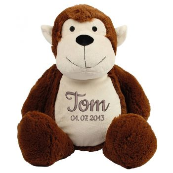 Plush toy with name - Monkey Zippie, 50 cm