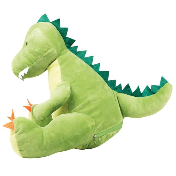 Plush toy with name - dinosaur Zippie, 42 cm