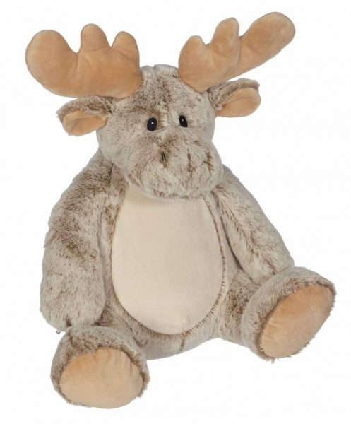 Soft toy with name - Classic Moose, 16 inch