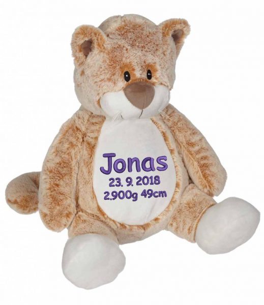 Soft toy with name - Classic cat, 16 inch