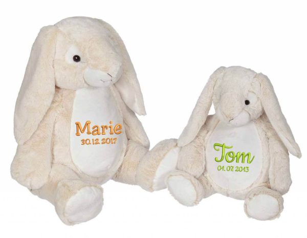 Soft toy with name - Classic Bunny Bella Bunny, 16 and 22 inch
